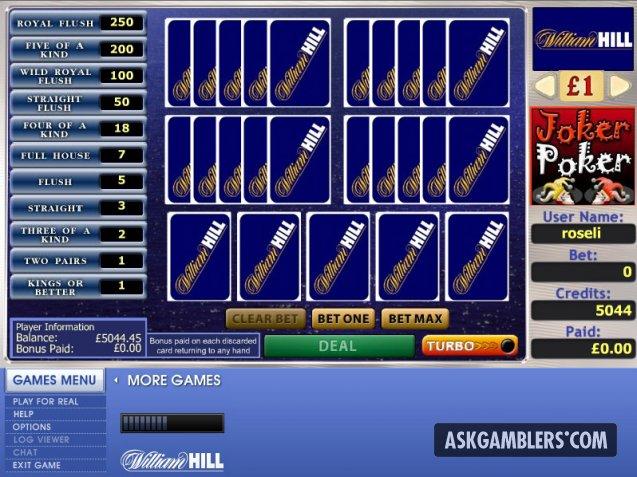 William Hill Joker Poker